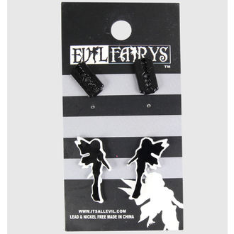 earrings POIZEN INDUSTRIES - EFES1 - Fairy & Razorblade - White
