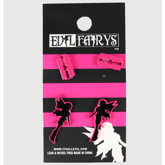 earrings POIZEN INDUSTRIES - EFES1 - Fairy & Razorblade - Pink