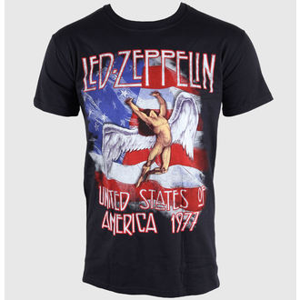 t-shirt men Led Zeppelin- Stars N Stripes - Black - LIVE NATION - RTLZE046
