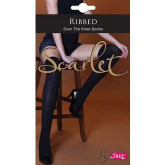 knee high socks Legwear - Scarlet - Ribbed