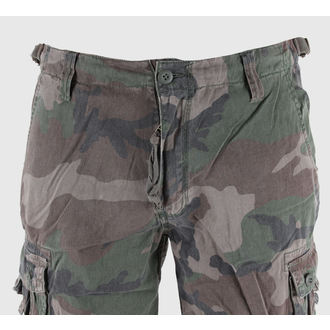 shorts men 3/4 MIL-TEC - Air Combat - Prewash Woodland - 11410020