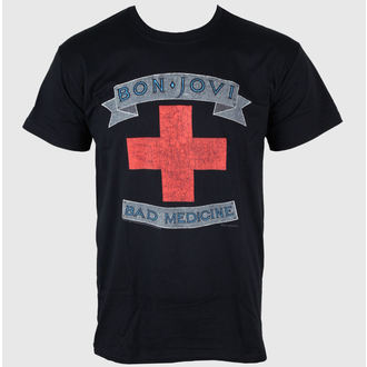 t-shirt metal men's Bon Jovi - Bad Medicine - PLASTIC HEAD - PH7466