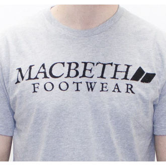 t-shirt street men's - Vintage Logo - MACBETH - Heather Grey Classic