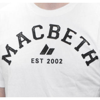t-shirt street men's - Varsity - MACBETH - White Classic
