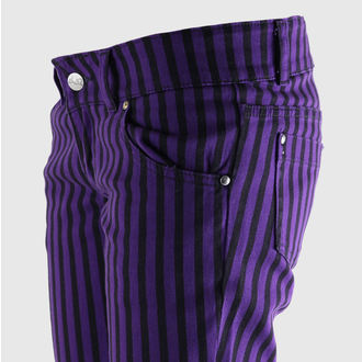 pants women's 3RDAND56th - Stripe Skinny - JM444 - Black-PURLE