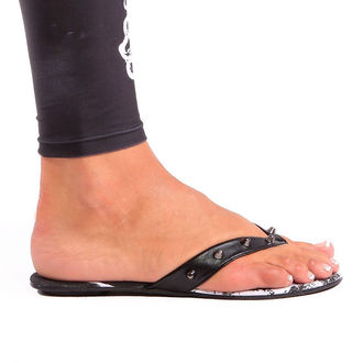 boots women IRON FIST - Loose Tooth Flat Sandal - BLACK