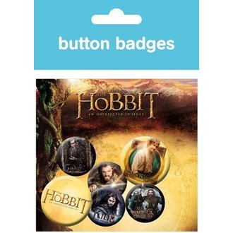 badges The Hobbit - Gandalf Dwarves - BP0322 - GB posters