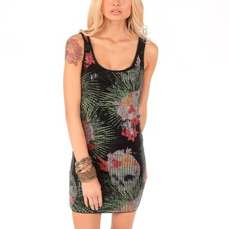 dress women IRON FIST - Reina Muerte Sequin
