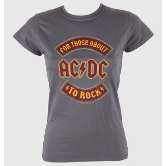 t-shirt women AC / DC - About To Rock Banner - LIVE NATION - RTACDC38500