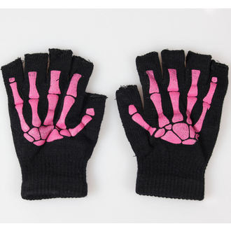 gloves fingerless POIZEN INDUSTRIES - BGS Gloves - Black / Pink