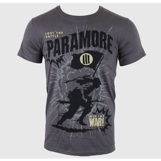 t-shirt metal men's Paramore - Minifield Charcoal - LIVE NATION - PE10200TSC