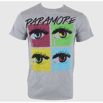 t-shirt metal men's Paramore - Pop Tear Sports Grey - LIVE NATION - PE10201TSC