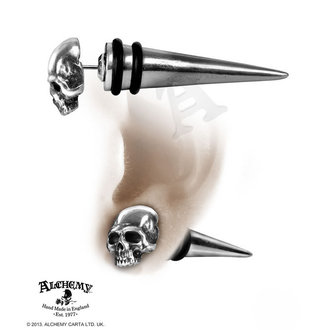 earrings Tomb Skull Spike - ALCHEMY GOTHIC - E323