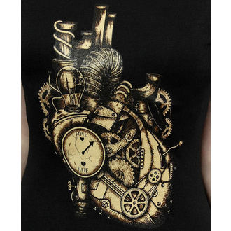 t-shirt gothic and punk women's - Mechanical Heary Steampunk - RESTYLE - RES086