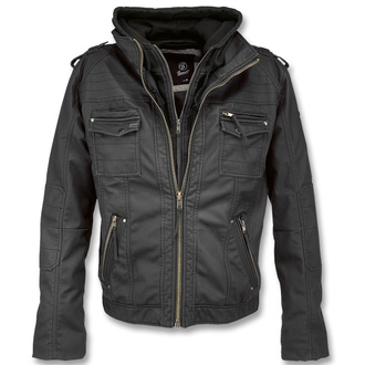 spring/fall jacket men's - Black Rock Black - BRANDIT - 3119-schwarz