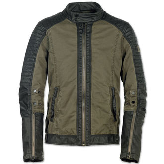 jacket men spring/autumn BRANDIT - Road King Vintage Black / Olive - 3128/2