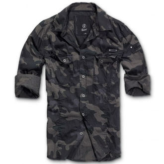 shirt men BRANDIT - Men Shirt Slim Darkcamo - 4005/4