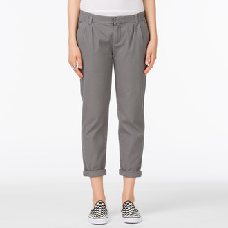 pants women VANS - G Pleated Chino - Graphite - VUJGGRA