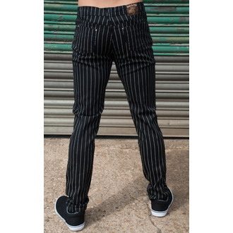 pants men 3RDAND56th - Pinstripe - Black / white - JM1151