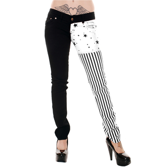 pants women 3RDAND56th - Split / L Skinny - Black / white - JM1142