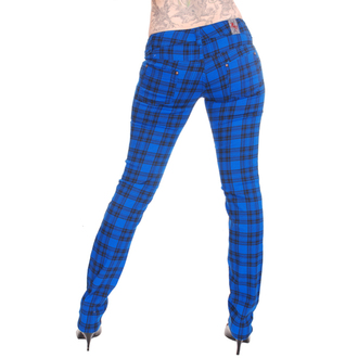 pants women 3RDAND56th - Check Skinny - Royal