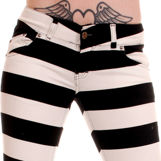 pants women 3RDAND56th - Jail Stripe Skinny - Black / white