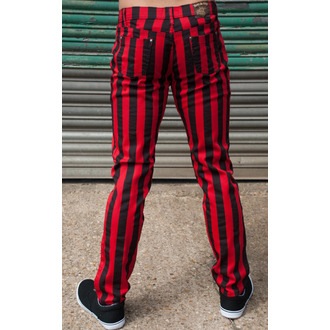 pants (unisex) 3RDAND56th - Stripe Skinny - Blk / Red - JM1105