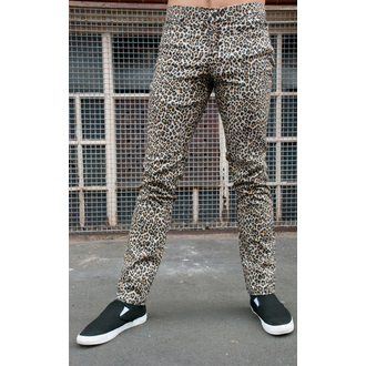 pants men 3RDAND56th - Leopard Skinny Jeans - Natural Leo - JM1150