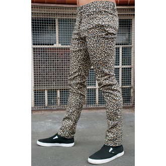 pants men 3RDAND56th - Leopard Skinny Jeans - Natural Leo