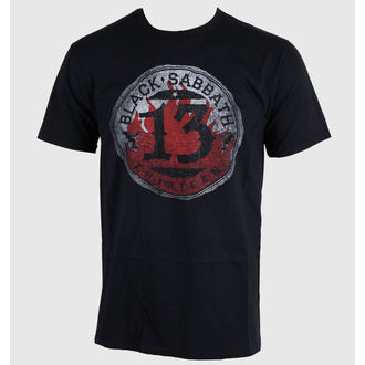 t-shirt men Black Sabbath - 13 Flame Circle - Black - ROCK OFF - BSTS07MB