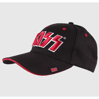 cap Kiss - Red on White Logo - ROCK OFF, ROCK OFF, Kiss