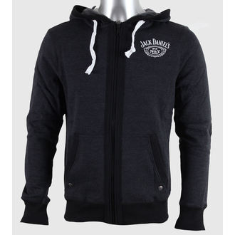 hoodie men Jack Daniels - Grey - BIOWORLD - HD255613JDS
