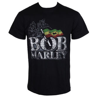 t-shirt metal men's Bob Marley - Distressed Logo - BRAVADO EU - BMATS01