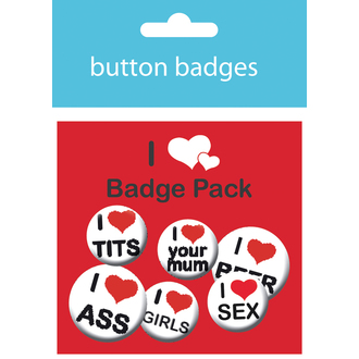 badges I Love Man's Pack - BP0366