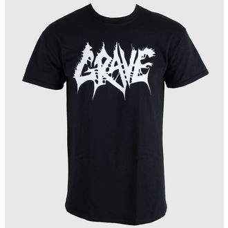 t-shirt men Grave - Logo White Print - TPE MERCHANDISE - 0042