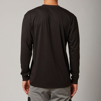 t-shirt men with long sleeve FOX - Decadence - Black