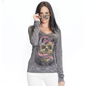 t-shirt hardcore women's - SA Serpent Burnout - SULLEN - Gry