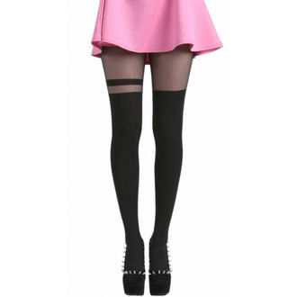 tights PAMELA MANN - Over The Knee Stripe Tights - Black - 048