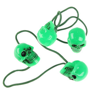hair rubber band KREEPSVILLE SIX SIX SIX - Skull - Green - HBSG