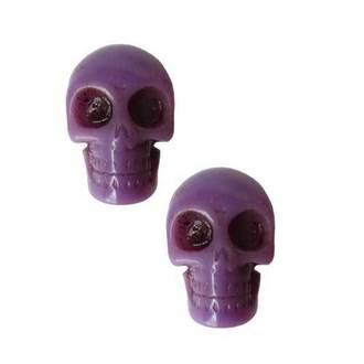 earrings KREEPSVILLE SIX SIX SIX - Skull - Purple - ESCP