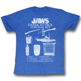 t-shirt men jaws - Survival Kit 2 - AC - JAW5219
