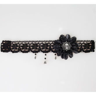 necklace ALCHEMY GOTHIC - Black Dahlia Choker