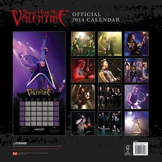 calendar 2014 Bullet For My Valentine - PYRAMID POSTERS
