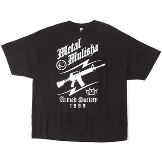 t-shirt street men's - Team Work - METAL MULISHA - Blk