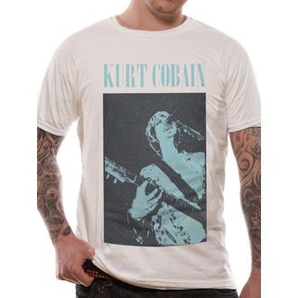 t-shirt men Kurt Cobain - Standing Blue Photo - LIVE NATION - RTKCO0102