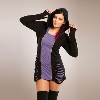 hoodie women's - Bound - POIZEN INDUSTRIES - Black/Purple