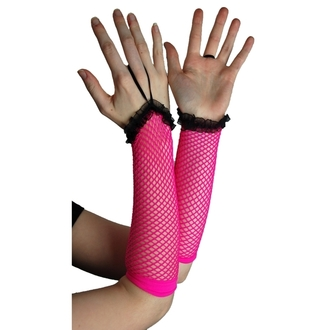 sleeve POIZEN INDUSTRIES - NLLG Long Fishnet Lace Trim - Pink