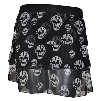 skirt women's POIZEN INDUSTRIES - Skull - Black