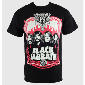t-shirt metal men's Black Sabbath - Red Flames - BRAVADO - 34191020