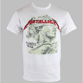 t-shirt metal men's Metallica - Justice chrome Stat - BRAVADO - MET1382